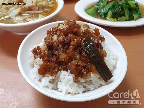 有台灣國飯美譽的滷肉飯,是來台必吃美食票選第一名,50家滷肉飯店家台北車站大會師(圖/卡優新聞網)